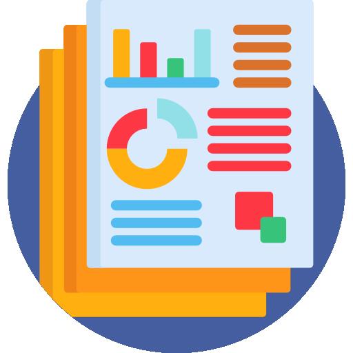 icona rapporto analisi del sito web